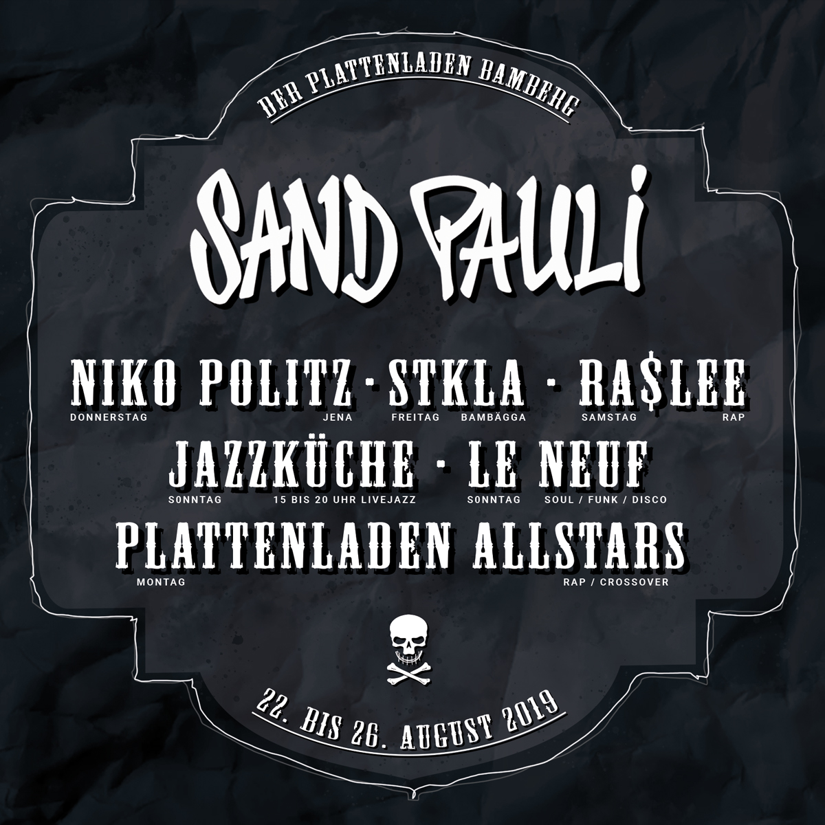 QUAD SANDPAULI 2019 DJs